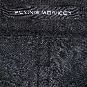 Flying Monkey Jeans - Flying Monkey black denim skinny jeans.